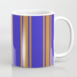 Orange lines on a blue background Coffee Mug