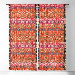 N120 - Fresh Bohemian Traditional Moroccan Style Artwork. Blackout Curtain