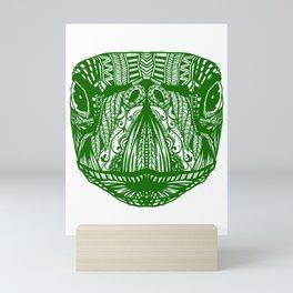 Green Sea Turtle Beautiful Decorative Ocean Marine Design Mini Art Print