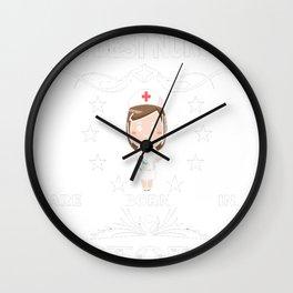 Funny-Nurses-T-shirt.-Nurses-Are-Born-In-October.-Best-Gifts Wall Clock