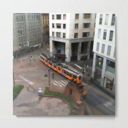 Milan Metro Tram Metal Print