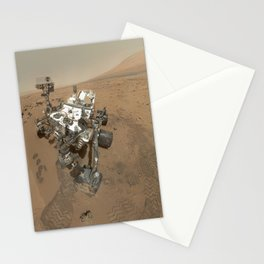 High-Resolution Self-Portrait by Curiosity Rover Arm Camera Stationery Cards