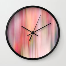 Roses Blur Wall Clock