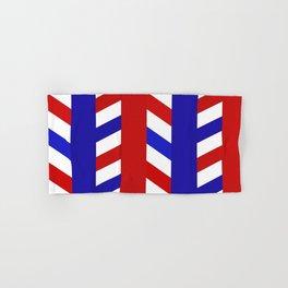 Striped Red Blue Pattern Hand & Bath Towel