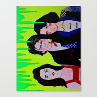 heathers Canvas Prints featuring Heathers by MICHELLE GUINTU
