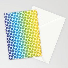 Full Spectrum (Rainbow) Metaballs Pattern Stationery Cards