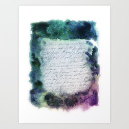 scritto Art Print