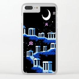 Greek Sanctuary in Pegasus Constellation Clear iPhone Case