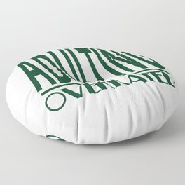 Funny Description Immature Tshirt Design Adulting is Overrated Floor Pillow