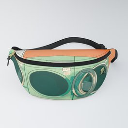 Green vintage laundry mat Fanny Pack
