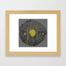 Sound on the underground Framed Art Print