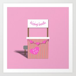 Kissing Booth Art Print