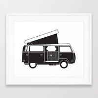vw bus Framed Art Prints featuring VW bus by kirsten bingham