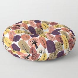 Autumn Trees Pattern Floor Pillow