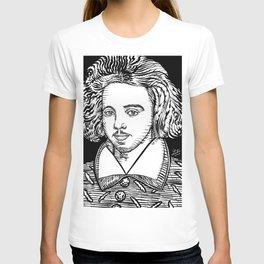 CHRISTOPHER MARLOWE ink portrait T-shirt
