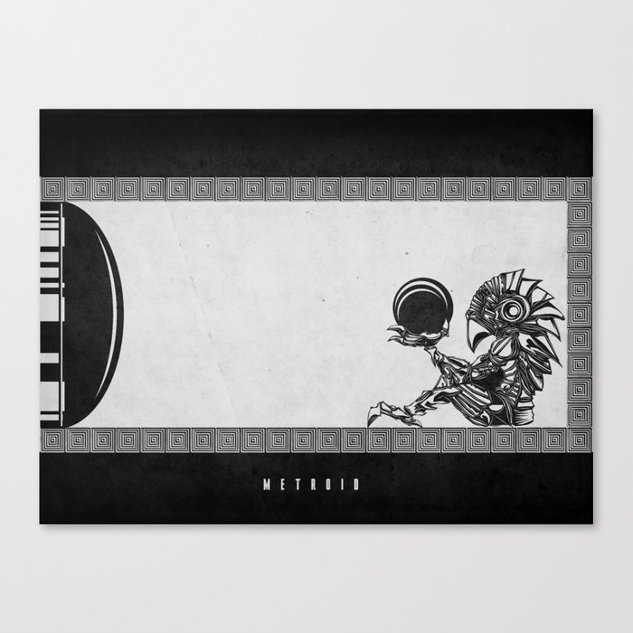 Metroid - The Chozo Geek Line Artly Canvas Print