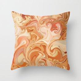 Marble Abstract Pink Sahara Desert Throw Pillow