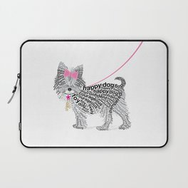 Typographic Yorkshire Terrier - Pink   #YorkshireTerrier #buyart Laptop Sleeve