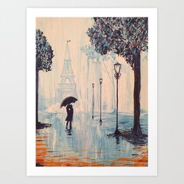 Last Night In Paris  Art Print