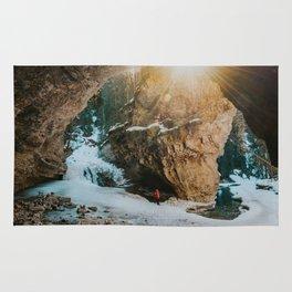 Magical light at Johnston Canyon Rug