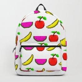 Retro Video Game Fruit Medley Pixel Art Backpack