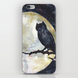 Owl's Perch with the Full Moon iPhone Skin