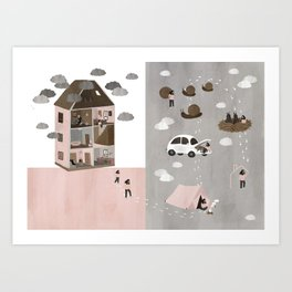 Finding a new home Art Print