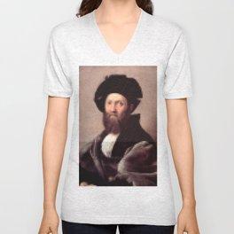 Renaissance Portait of Baldassare Castiglione Unisex V-Neck