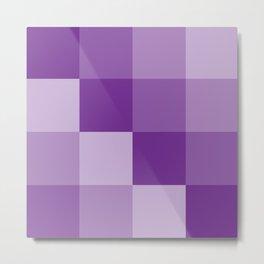 Four Shades of Purple Square Metal Print