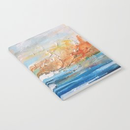 Sailboats and Golden Rays filling the Sea Gold Notebook