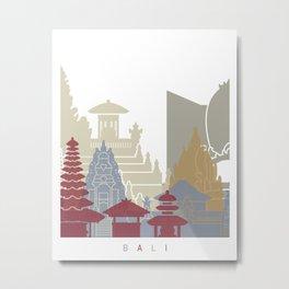 Bali skyline poster Metal Print