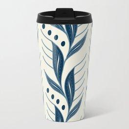 Indigo Leaves #society6 #pattern #indigo Travel Mug