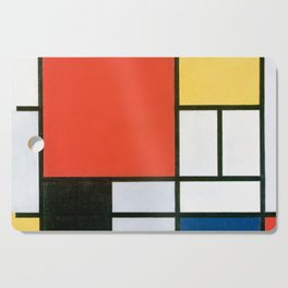 Piet Mondrian, Composition in red, yellow, blue and black Cutting Board