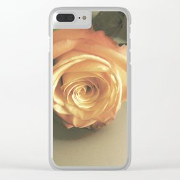 Vintage Rose II Clear iPhone Case