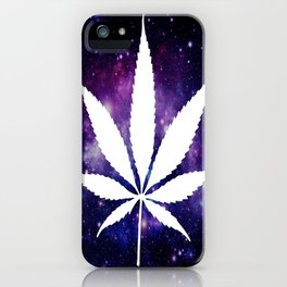 Weed : High Times Purple Blue Galaxy iPhone Case