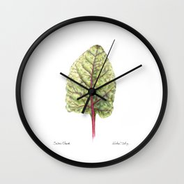 Swiss Chard Wall Clock