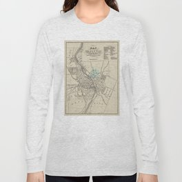 Vintage Map of Rochester NY (1838) Long Sleeve T-shirt
