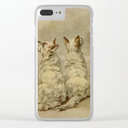 Earl,Maud(1864-1943) -The Power of the Dog1910 Terrier) Clear iPhone Case