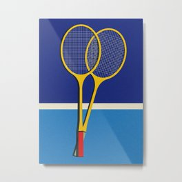 Wooden Badminton Rackets Metal Print