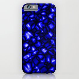Bright bubbly nautical surface of glass spherical molecules on black metal.  iPhone Case