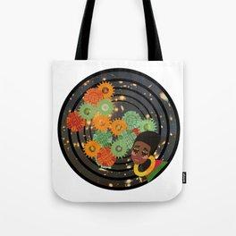 Magic Gold, Girl Through the Cosmos Tote Bag