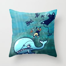 Whales are Furious! Throw Pillow