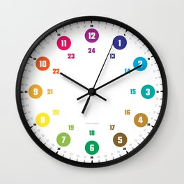 Lernuhr Wanduhr Minimalistisch © hatgirldesign.de 2018 Wall Clock