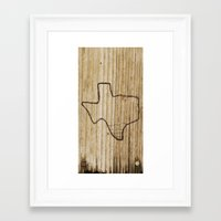texas Framed Art Prints featuring Texas by Travis Weerts