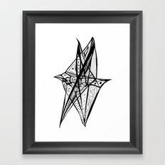 Bird 001 B&W Framed Art Print