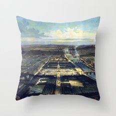 Vue générale de Paris Throw Pillow