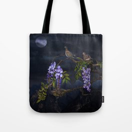 Doves In Moonlight Tote Bag