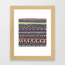 Paint Brush Marks Framed Art Print