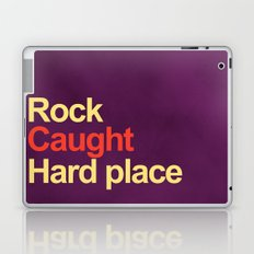Rock and a hard place Laptop & iPad Skin