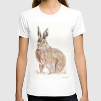 hare T-shirts featuring HARE  by Joelle Poulos